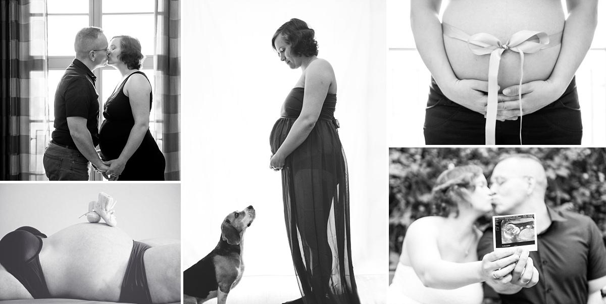 Babybauchfotos Dresden Babybauch und Hund Babyschuhe Ultraschallbild