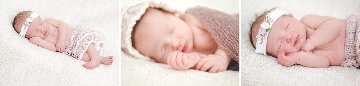 Newbornfotos Dresden Babyfotos Neugeborenes schläft Baby Girl Mädchen